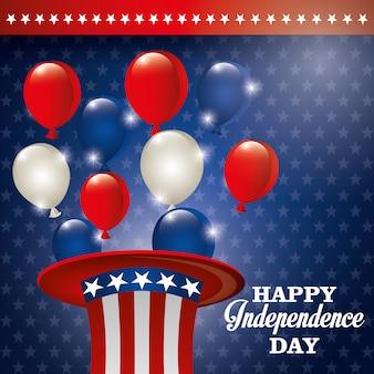 Gelukkige onafhankelijkheidsdag, 4 juli viering in de verenigde staten van amerika