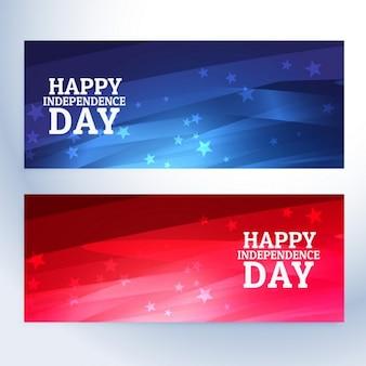 Gelukkige onafhankelijkheidsdag banners