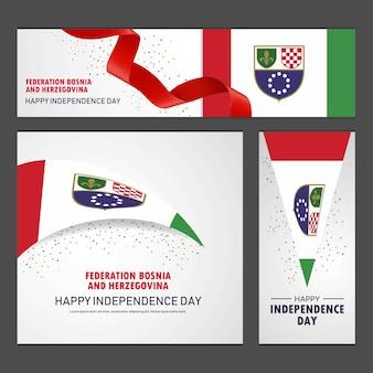 Gelukkige onafhankelijkheidsdag in bosnië en herzegovina