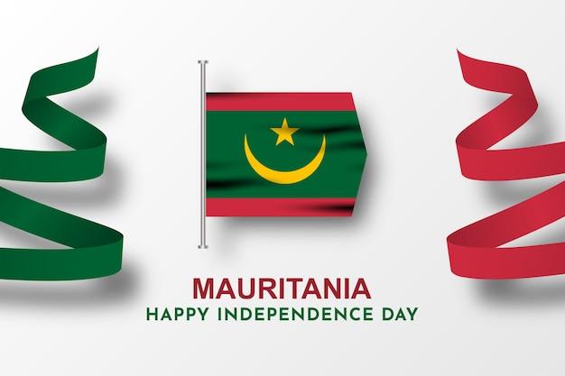 Gelukkige onafhankelijkheidsdag mauritanië viering