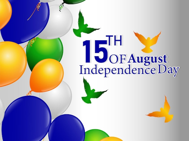 Gelukkige onafhankelijkheidsdag vieringskaart