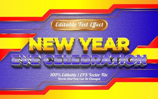 Gelukkige oudejaarsavond viering bewerkbare teksteffect sjabloonstijl