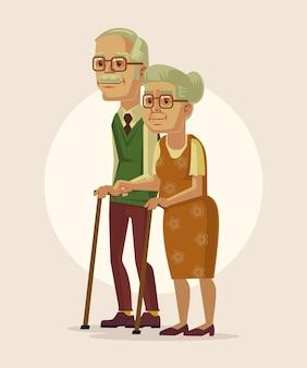 Gelukkige paar grootouders illustratie