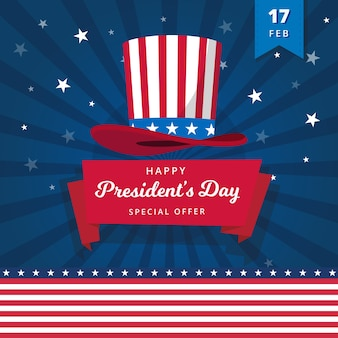 Gelukkige presidentdag met speciale aanbieding
