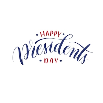 Gelukkige presidenten dag hand belettering vector.