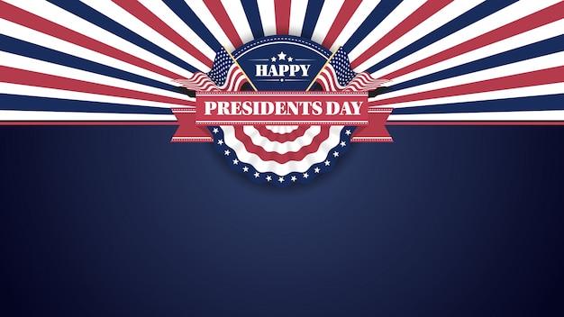 Gelukkige presiidents dag banner achtergrond en wenskaarten
