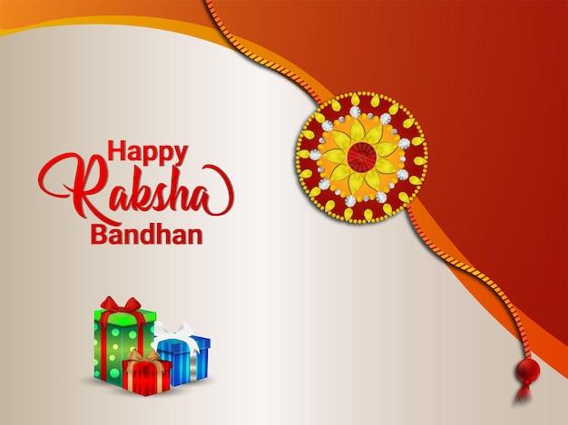 Gelukkige rakhi viering achtergrond