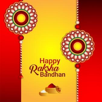Gelukkige raksha bandhan-achtergrond Premium Vector