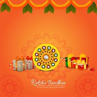 Gelukkige raksha bandhan-achtergrond