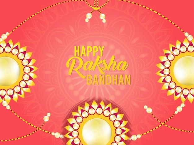 Gelukkige raksha bandhan-kaart