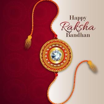 Gelukkige raksha bandhan met creatieve achtergrond
