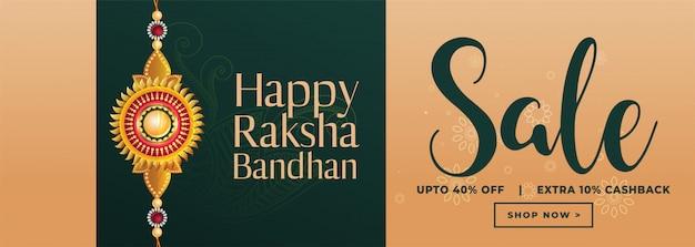 Gelukkige raksha bandhan verkoopbanner