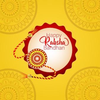 Gelukkige raksha bandhan viering achtergrond