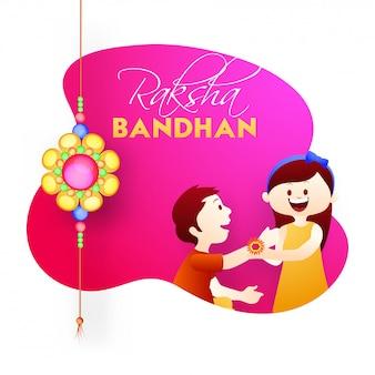 Gelukkige raksha bandhan-vieringsachtergrond.