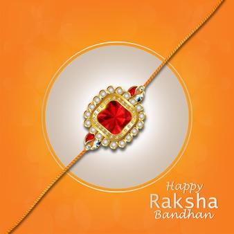 Gelukkige raksha bandhan-wenskaart met creatief element van rakhi