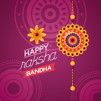 Gelukkige raksha bandhanviering