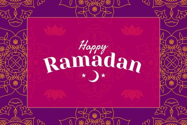 Gelukkige ramadan-achtergrond