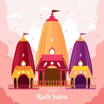 Gelukkige rath yatra-illustratie