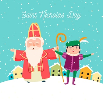 Gelukkige sinterklaasdag en elf