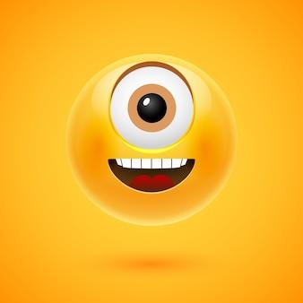 Gelukkige smiley cyclpos illustratie.