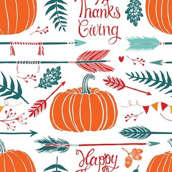 Gelukkige thanksgiving achtergrond