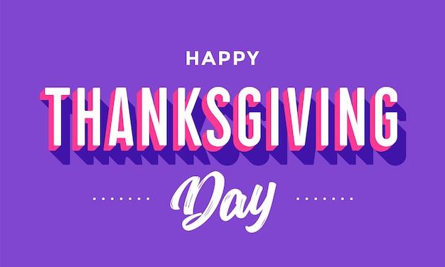 Gelukkige thanksgiving day-groet
