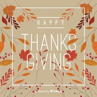 Gelukkige thanksgiving dayachtergrond met de herfstbladeren