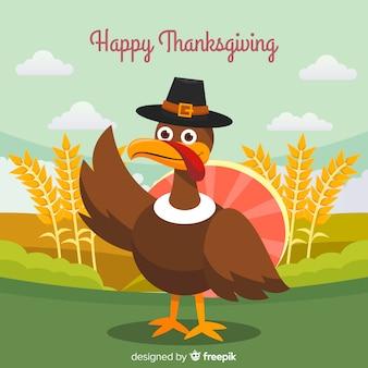 Gelukkige thanksgiving dayachtergrond van turkije