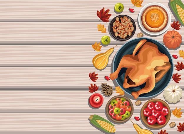 Gelukkige thanksgiving-poster