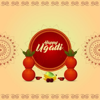 Gelukkige ugadi-viering wenskaart