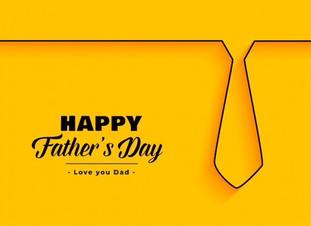 Gelukkige vaderdag achtergrond in minimalistische stijl