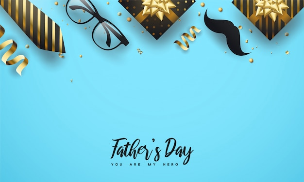 Gelukkige vaderdag begroeting achtergrond