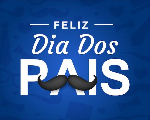 Gelukkige vaderdag in het portugees (dia dos pais)