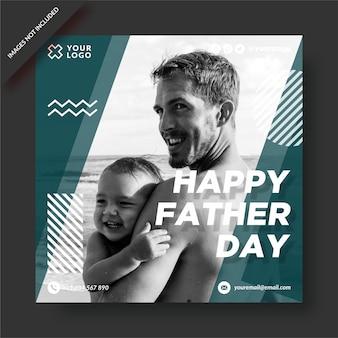 Gelukkige vaderdag instagram-post Premium Vector