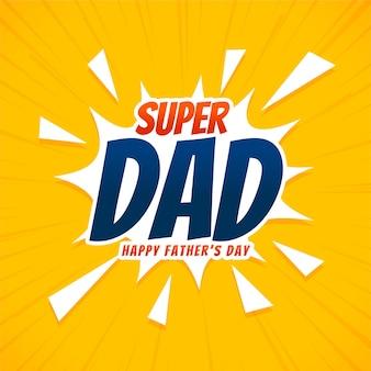 Gelukkige vaderdag wenskaart in komische stijl