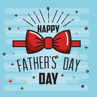Gelukkige vaderdagkaart met rode bowtie