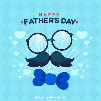 Gelukkige vaders dag achtergrond met elementen