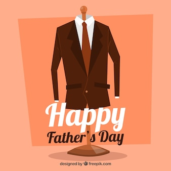 Gelukkige vaders dag achtergrond met pak