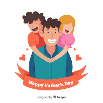 Gelukkige vaders dag achtergrond