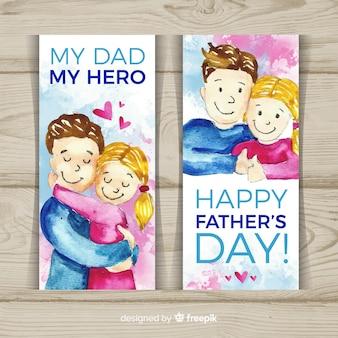 Gelukkige vaders dag banners