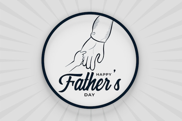 Gelukkige vaders dag doodle handgetekende achtergrond