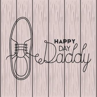 Gelukkige vaders dag kaart met elegante schoenen