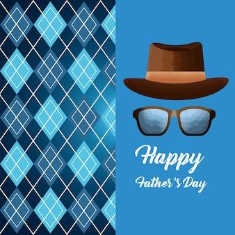 Gelukkige vaders dag kaart