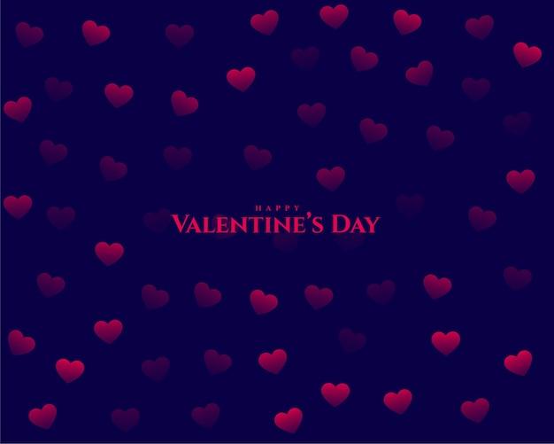 Gelukkige valentijnsdag elegante harten patroon achtergrond