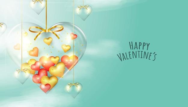 Gelukkige valentijnsdag groet banner
