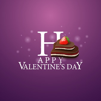 Gelukkige valentijnsdag - logo met snoep