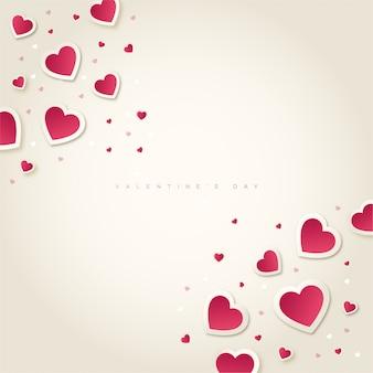 Gelukkige valentijnsdag met hartenachtergrond