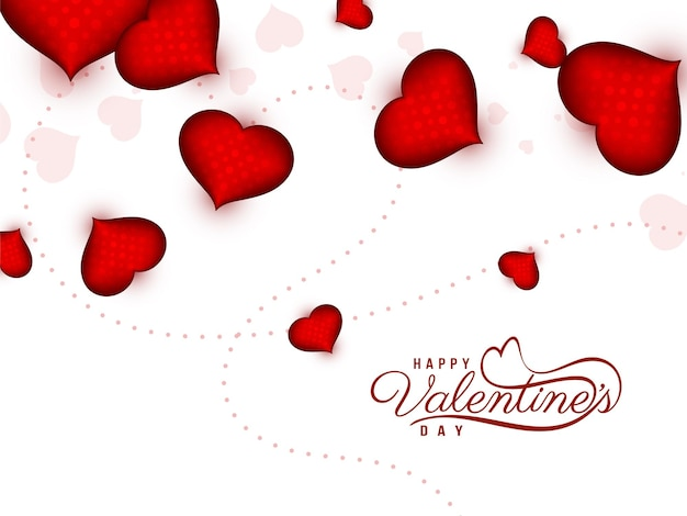 Gelukkige valentijnsdag mooie begroeting achtergrond Gratis Vector