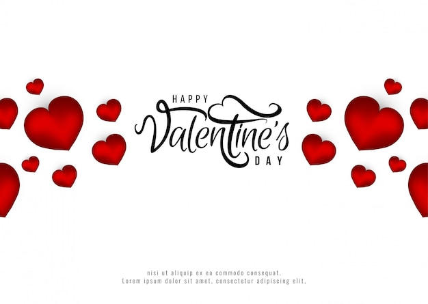 Gelukkige valentijnsdag romantische achtergrond