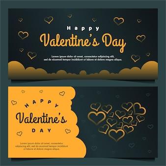 Gelukkige valentijnsdag sjabloon voor spandoek